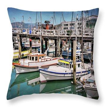 Fishermans Wharf San Francisco  Throw Pillow