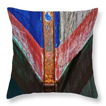 Fishing Boat Prow Throw Pillow
