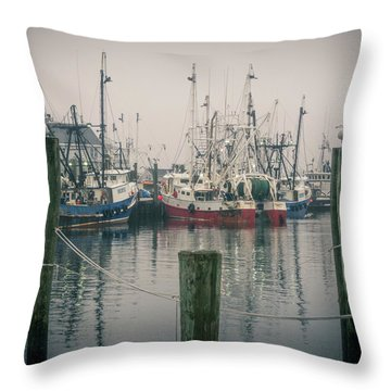 Fishing Boats Throw Pillow