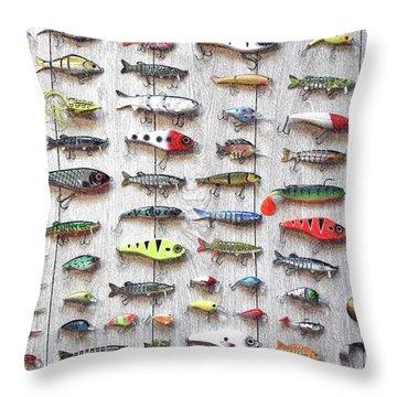 Fishing Lures - Dwp2669219 Throw Pillow