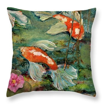 Fishy Tales Throw Pillow