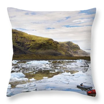 Fjallsarlon Glacier Lagoon #2 Throw Pillow