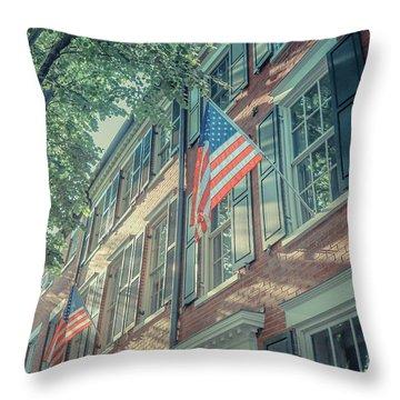 Flags Old Town Alexandria Throw Pillow