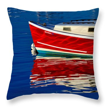 Flame Job Throw Pillow