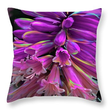 Throw Pillow featuring the digital art Flamingo by Cindy Greenstein