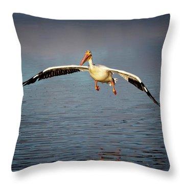 Flaps Down Throw Pillow