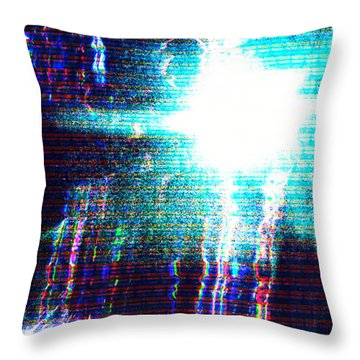 Throw Pillow featuring the photograph Flashlight by Bee-Bee Deigner