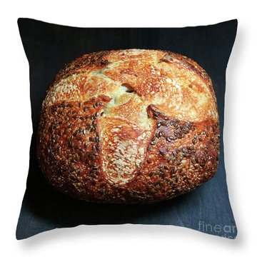 Flax Seed Sourdough 2 Throw Pillow