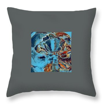 Throw Pillow featuring the digital art Fleur Du Florence by A zakaria Mami