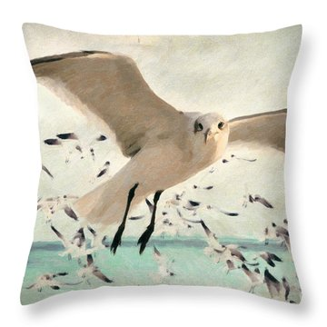 Flight Of The Gulls Throw Pillow