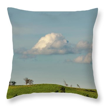 Throw Pillow featuring the photograph Flint Hills Horizon by Jeff Phillippi