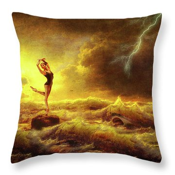 Flirting With Disaster Throw Pillow