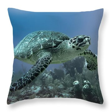 Floatin' By Throw Pillow