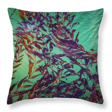 Floatin Kelp I Color Throw Pillow