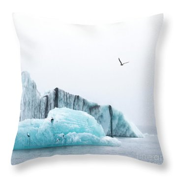 Floating Giants Throw Pillow