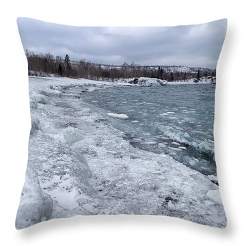 Floating Ice Throw Pillow