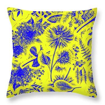 Flora And Foliage Throw Pillow