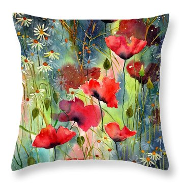 Floral Abracadabra Throw Pillow