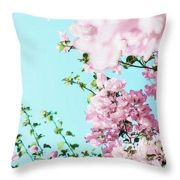 Floral Dreams I Throw Pillow