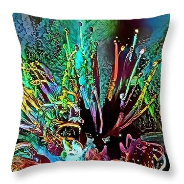 Floral Fantasy #1 Throw Pillow