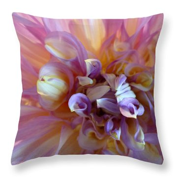 Throw Pillow featuring the photograph Floral Melody #3 by Ahma's Garden