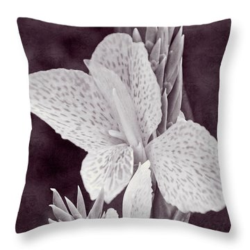 Throw Pillow featuring the photograph Floral Memories II by Leda Robertson
