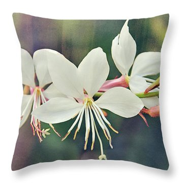 Throw Pillow featuring the photograph Floral Palette II by Leda Robertson