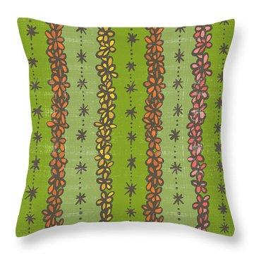 Floral Stripes Pattern Throw Pillow