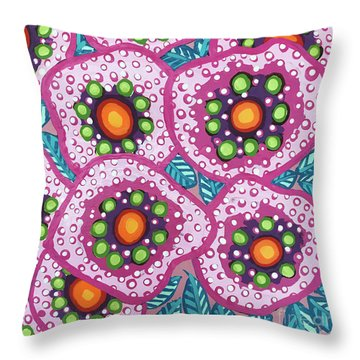 Floral Whimsy 10 Throw Pillow