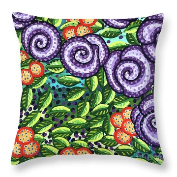 Floral Whimsy 11 Throw Pillow