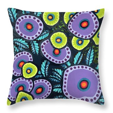 Floral Whimsy 12 Throw Pillow