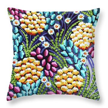 Floral Whimsy 2 Throw Pillow