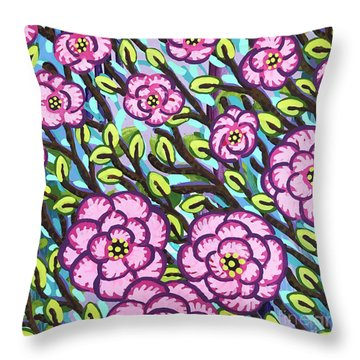 Floral Whimsy 3 Throw Pillow