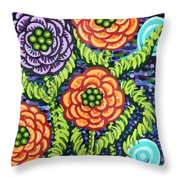 Floral Whimsy 5 Throw Pillow