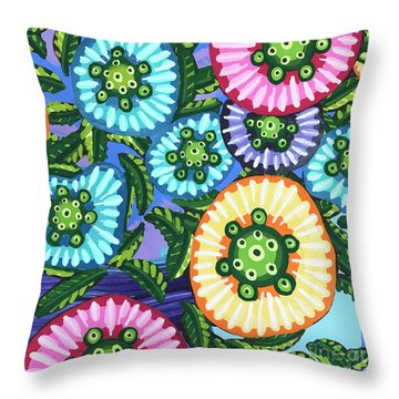Floral Whimsy 6 Throw Pillow