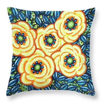 Floral Whimsy 7 Throw Pillow
