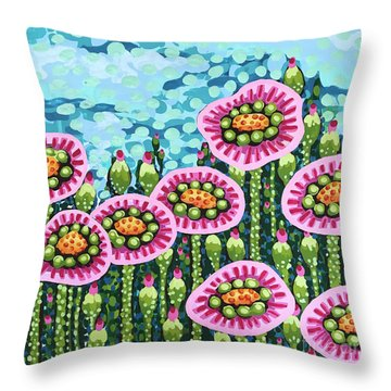 Floral Whimsy 8 Throw Pillow