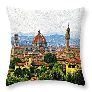 Basilica Of Saint Mary Photographs Throw Pillows