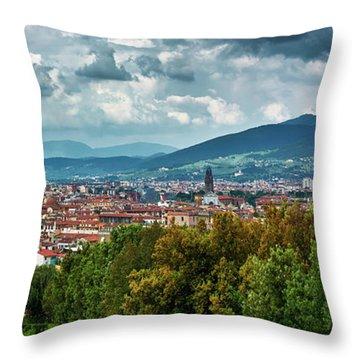 Florentine Cityscape From The Boboli Gardens Throw Pillow