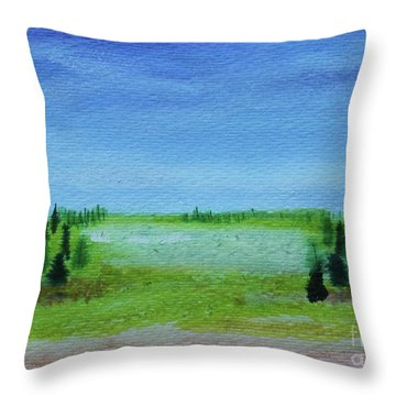 Throw Pillow featuring the painting Florid Forest by Kim Nelson