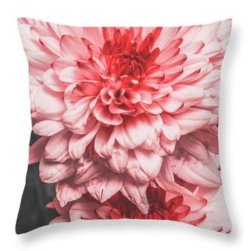 Flower Buds Throw Pillow