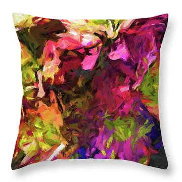 Flower Colour Love 1 Throw Pillow