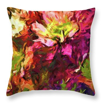 Flower Colour Love 2 Throw Pillow