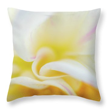 Throw Pillow featuring the photograph Flower Curves by Francisco Gomez