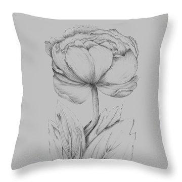 Flower Illustration I Throw Pillow