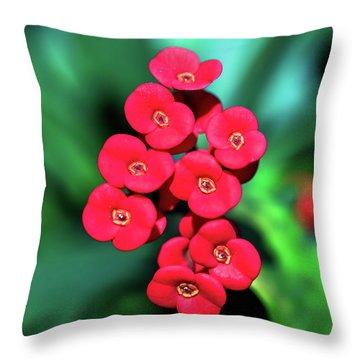 Flower Parade Throw Pillow