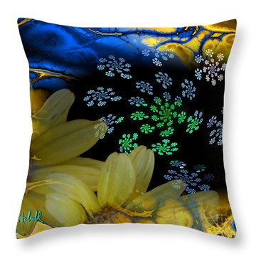 Flower Power In The Modern Age Throw Pillow