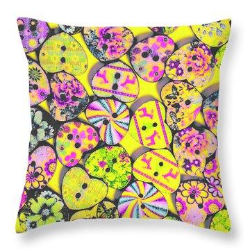 Flower Power Patterns Throw Pillow