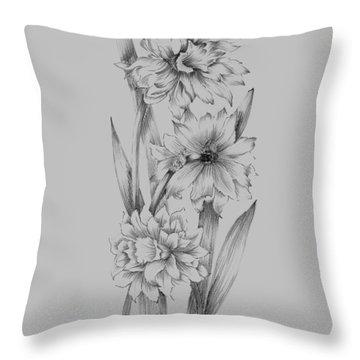 Flower Sketch IIi Throw Pillow