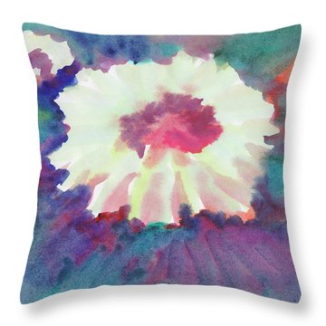 Throw Pillow featuring the painting Flowering Abstract 2 by Dobrotsvet Art